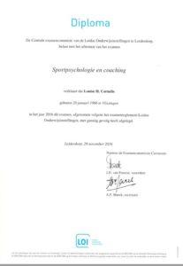 Diploma sportpsychologie en coaching