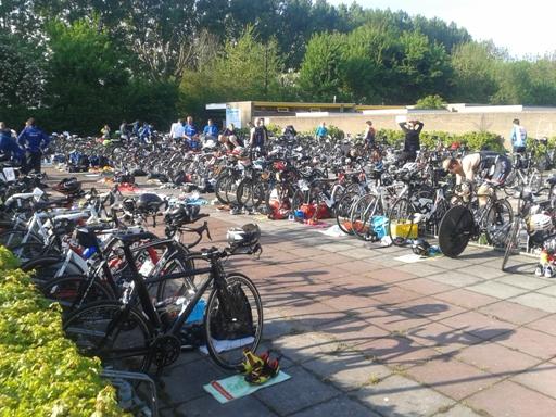 Parc fermé in fietsenstalling