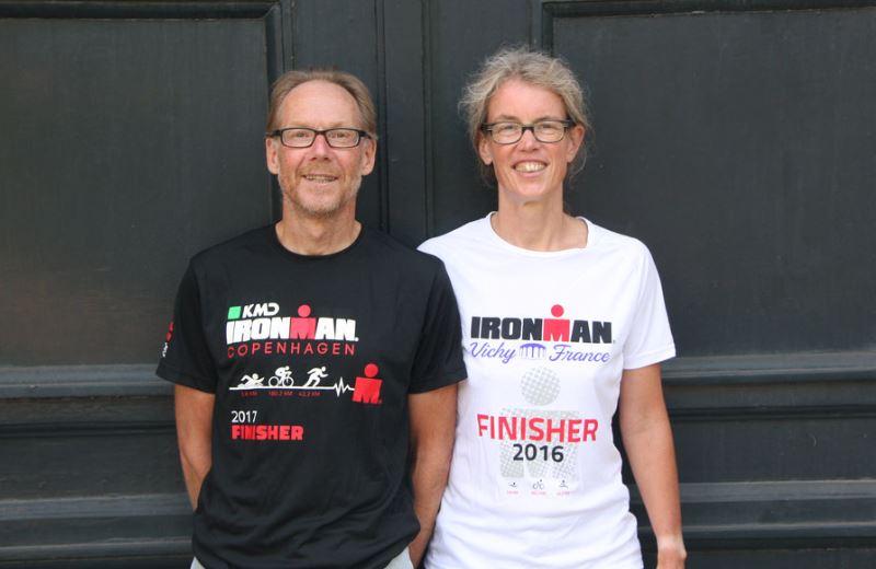Henk en ik in onze finishersshirts
