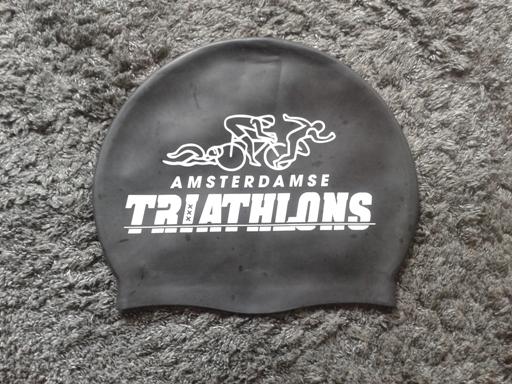 Zwarte badmuts met Amsterdamse opdruk