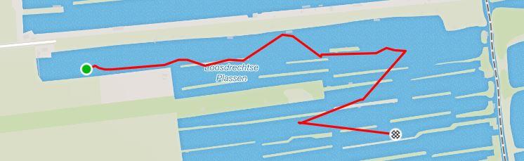 GPS track met start en finish ver uit elkaar