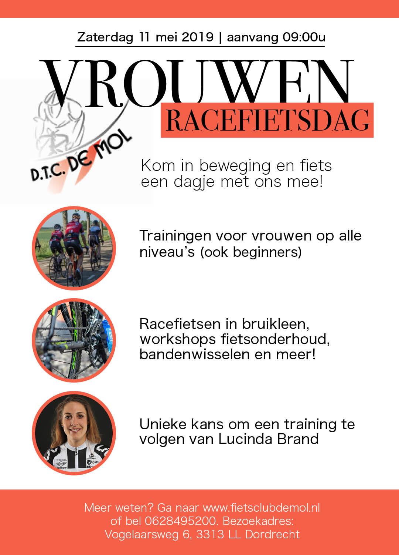 Flyer Vrouwen-racefietsdag De Mol 11 mei