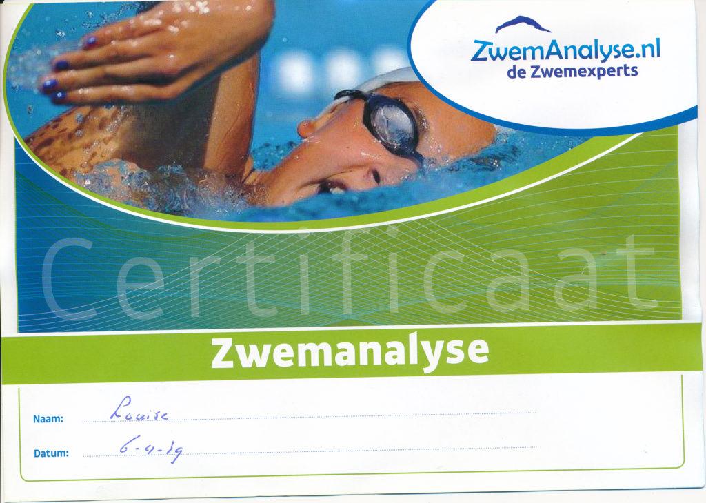Certificaat Zwemanalyse